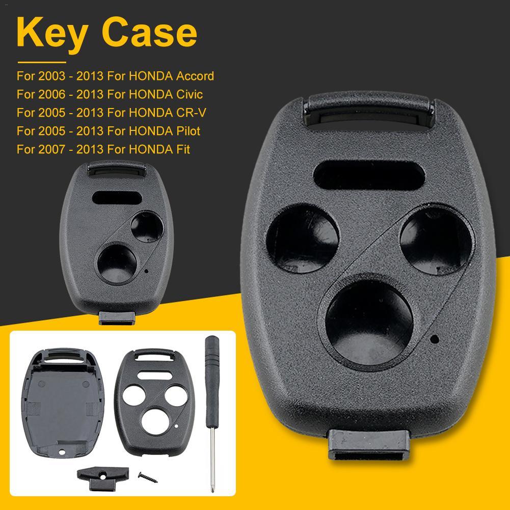 Cubierta de mando a distancia para llave de coche para Honda CR-V Civic Insight 2003 a 2013 funda Fob