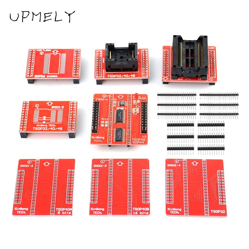 الأصلي TSOP32 TSOP40 TSOP48 SOP44 SOP56 طقم محوّل ل MiniPro TL866II زائد العالمي مبرمج خاص اختبار كليب الذكية