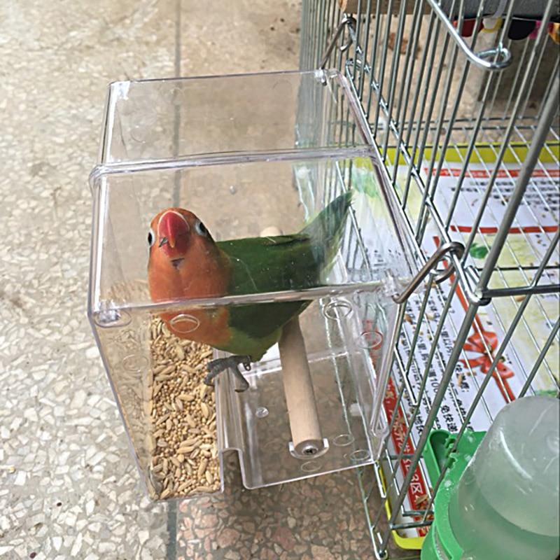 CAITEC защита от проливания попугая короб для корма для Птиц Еда для попугая контейнер для еды устойчив к укусам подходит для маленьких птиц Маленький попугай