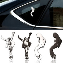 Car Styling metal decoration mark Commemorative Michael Jackson personality decoration stickers ster