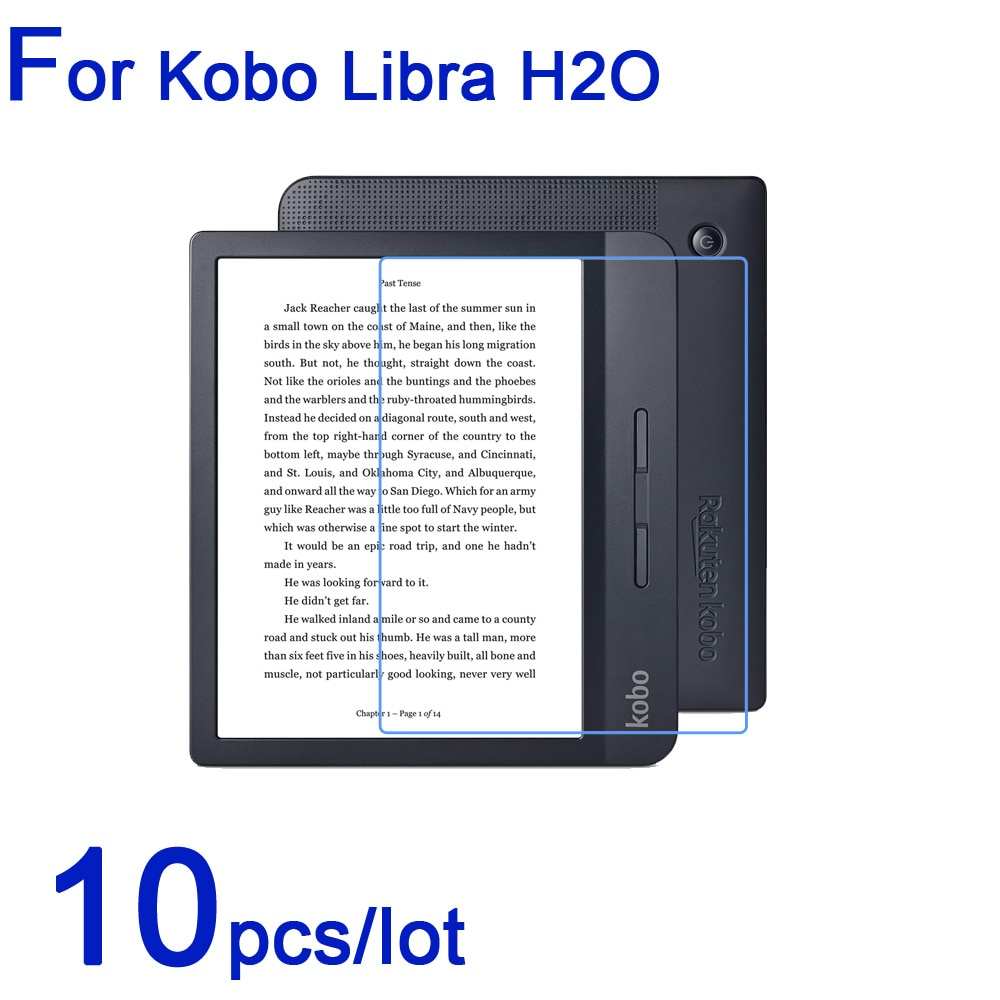 Libra H2O 10 pçs/lote Suaves Protetores de Tela LCD para Kobo Ebook Tablet Ultra-Clear/Matte/Nano Anit-Explosão Pretective Filme