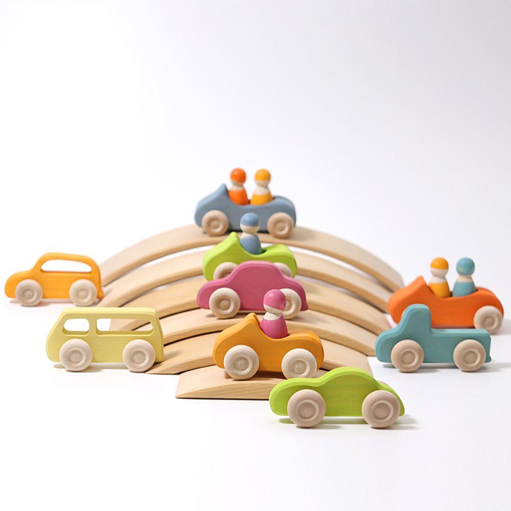 Bloques de construcción Arco Iris coche curvado Arco Iris puente de madera juguetes para niños Stack High Child juguetes educativos Dropshipping