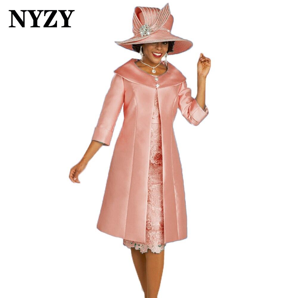 NYZY-vestido elegante para madre de la novia M336E, traje de invitados de...
