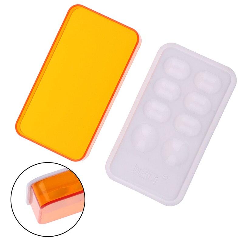 1 Uds paleta Dental placa hidratante de mezcla de resina y riego con cubierta paleta de 8 ranuras equipo de laboratorio Dental 1 ud.