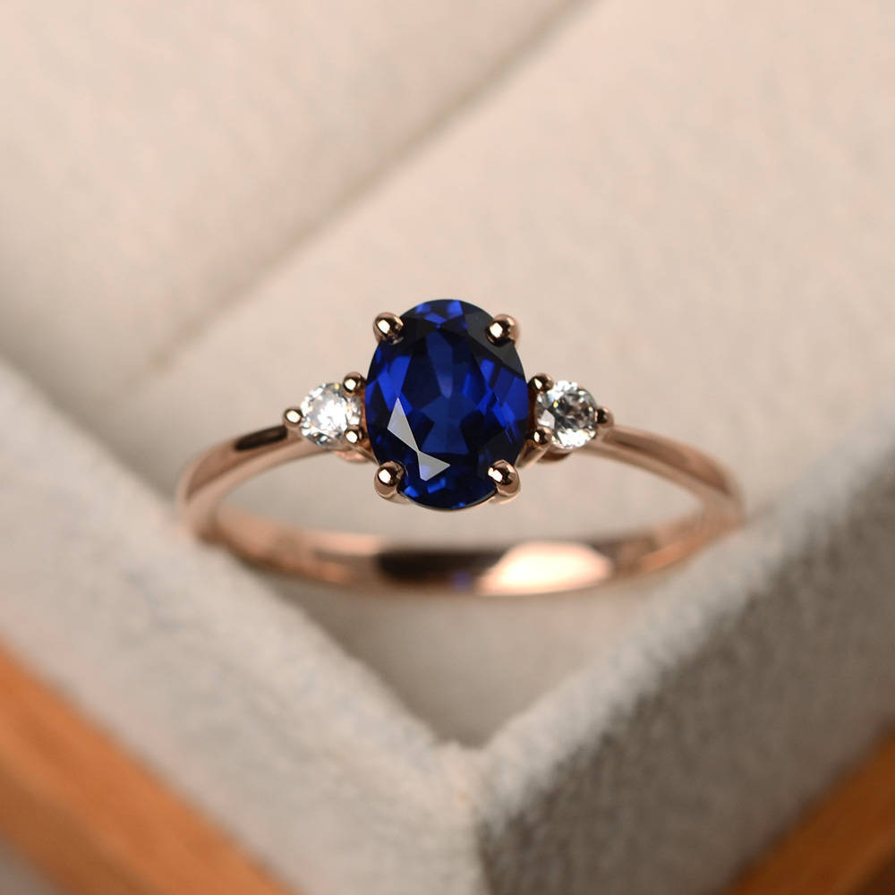 Nova venda quente novo produto rosa banhado a ouro safira senhoras requintado temperamento anel personalidade criativa anel jóias