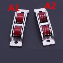8 pcsdoor window pulley nylon wheel 60 80 88 double groove wheel mute bearing sliding door window rail pulley wheel