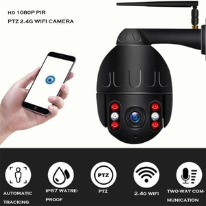 1080P PTZ Speed Dome IP Camera WiFi Auto Tracking Wireless Outdoor Network CCTV Security Surveillance Waterproof Camera
