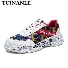 TUINANLE 2020 été blanc baskets Sping femme décontracté mode baskets Graffiti chaussures plates dames vulcanisé chaussures Zapatos De Mujer