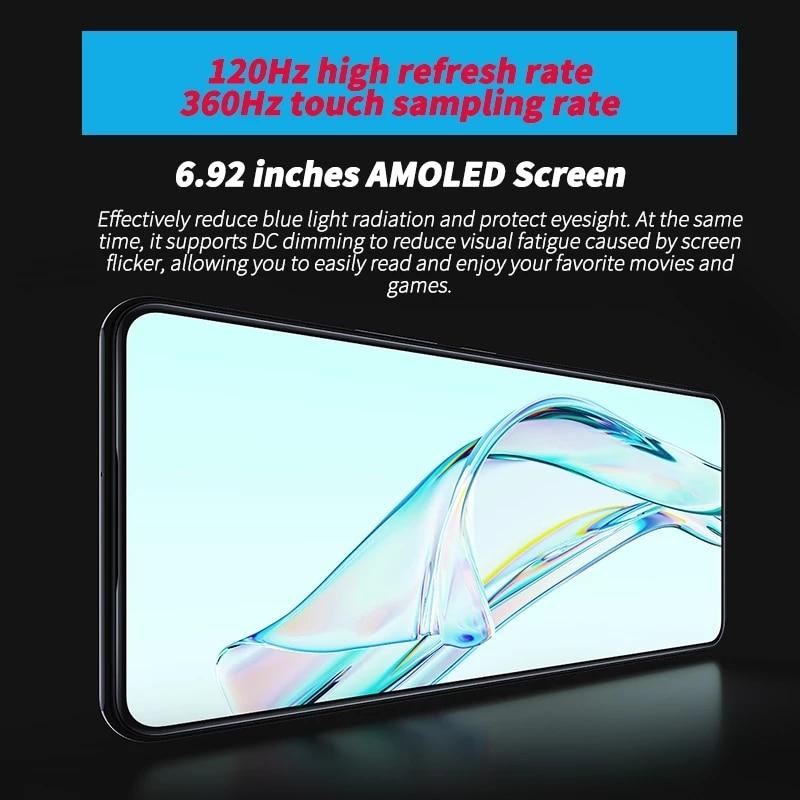 World Premiere Global Version ZTE Axon 30 5G Smartphone 6.92'' 120Hz Under-screen camera Snapdragon 870 65W Fast Charging Phone enlarge