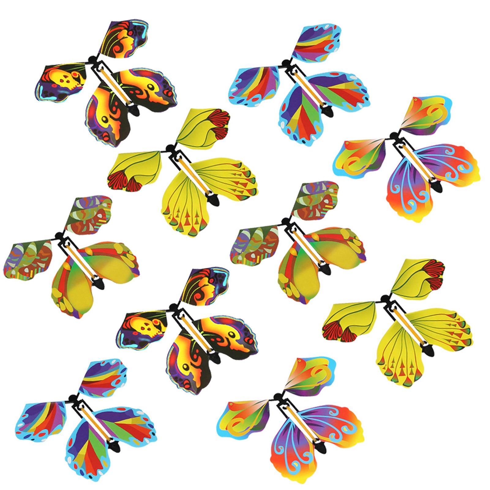 10 шт. Волшебная Летающая бабочка милый высококачественный детский отличный подарок Сюрприз День рождения Свадебная Открытка Подарок бабоч...