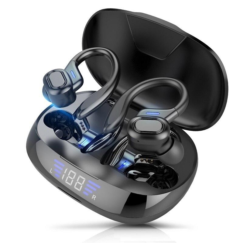 Bluetooth Headphones With Microphones Sports Earpiece Led Display Wireless Headphones Hifi Stereo Earrings Waterproof Headsets enlarge