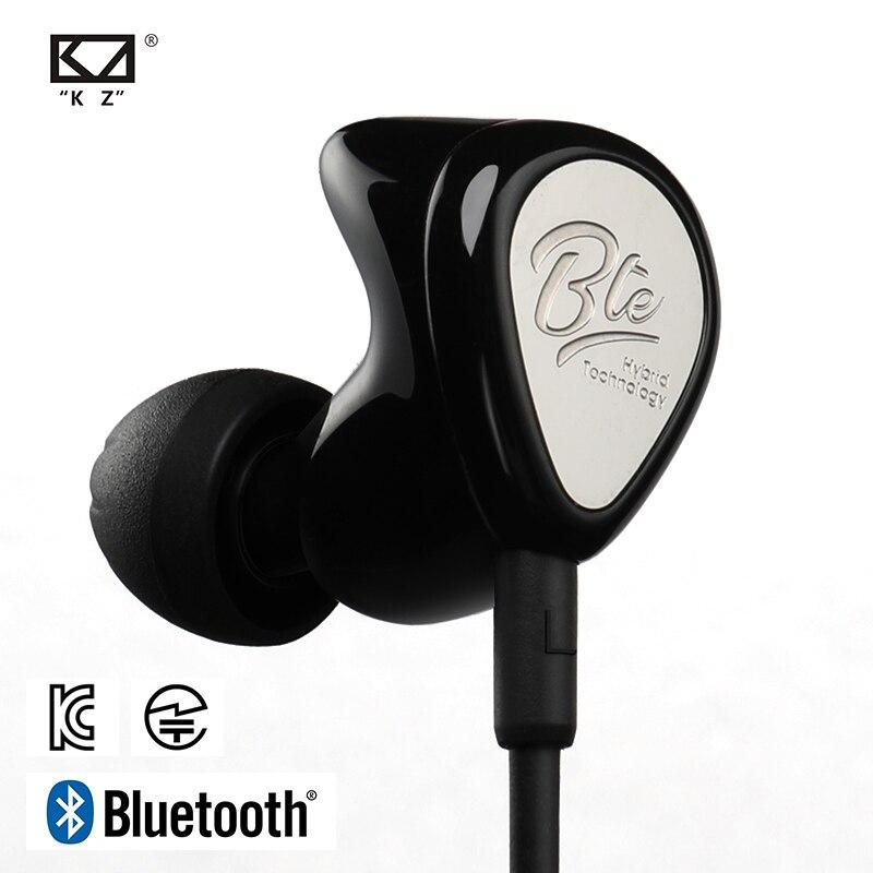 Auriculares inalámbricos Bluetooth KZ BTE, tecnología híbrida, Auriculares deportivos, auriculares con graves HiFi resistentes al agua, Monitor de oído, auriculares APTX