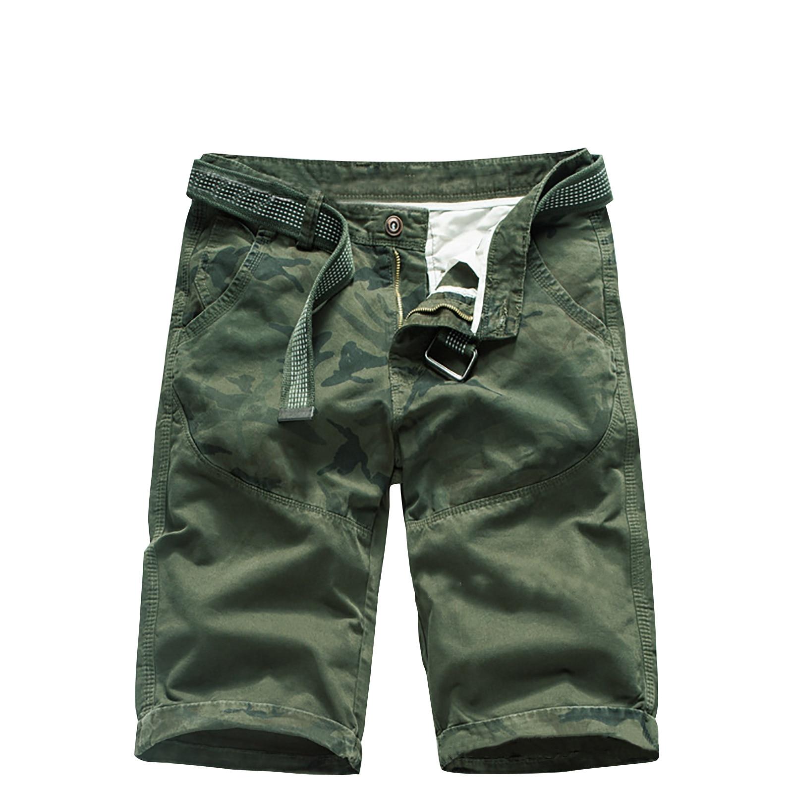 2021 Summer New Cotton Cargo Shorts Men Casual Multi-Pocket Military Shorts Pants Loose Work Army Tactical Shorts Men