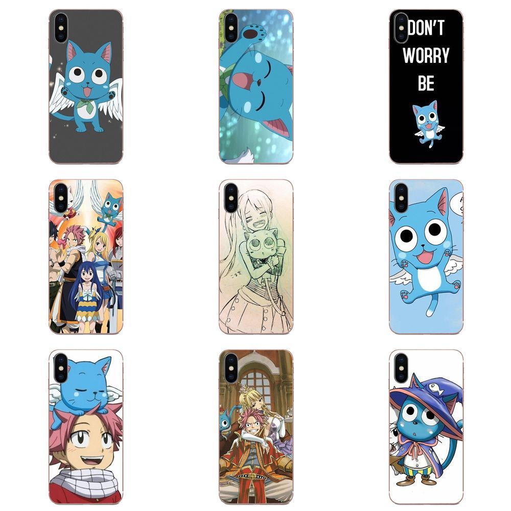 Happy Natsu Flying Cat Fairy Tail Art Skin Thin For Huawei P7 P8 P9 P10 P20 P30 Lite Mini Plus Pro Y9 Prime P Smart Z 2018 2019