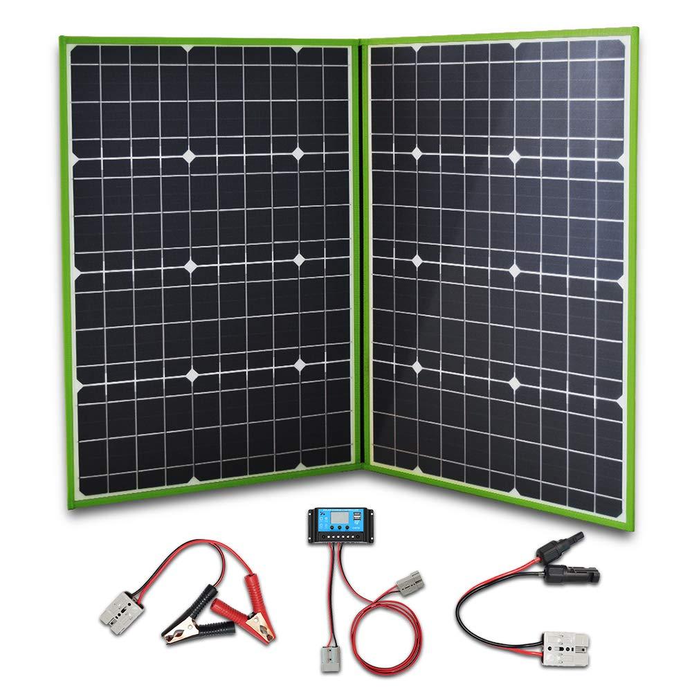 لوح شمسي جهدي ضوئي قابل للطي قابل للطي 40 وات 60 وات 80 وات 100 وات 150 وات طقم ألواح فولطية شاحن بطارية هاتف