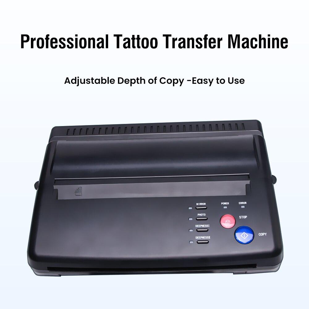آلة نقل الوشم آلة ناسخة طابعة الرسم الحرارية استنسل صانع أدوات الوشم صور نقل ورقة نسخة الطباعة