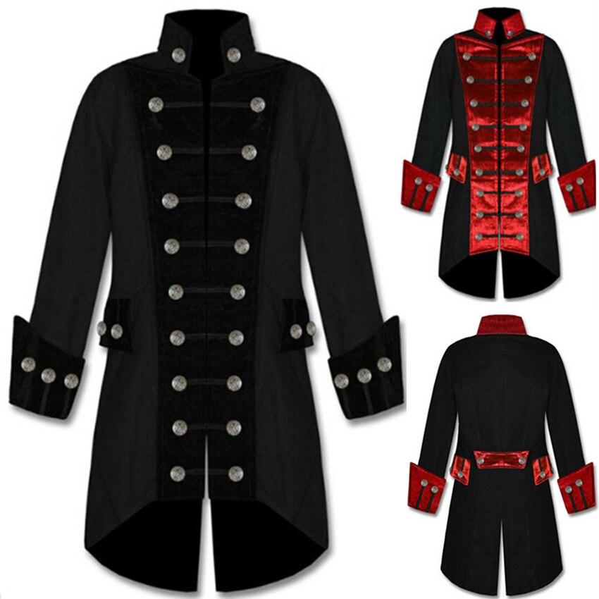 Pirata cosplay medieval carnaval trajes de halloween para roupas masculinas cavalheiro retro punk funk rock jacket feminino disfarce