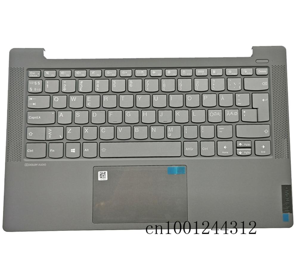 جديد 5CB0Y89313 لينوفو ايديا باد 5-14ARE05 5-14ITL05 5-14IIL05 Palmrest لوحة المفاتيح الحافة لوحة اللمس الخلفية زر الطاقة