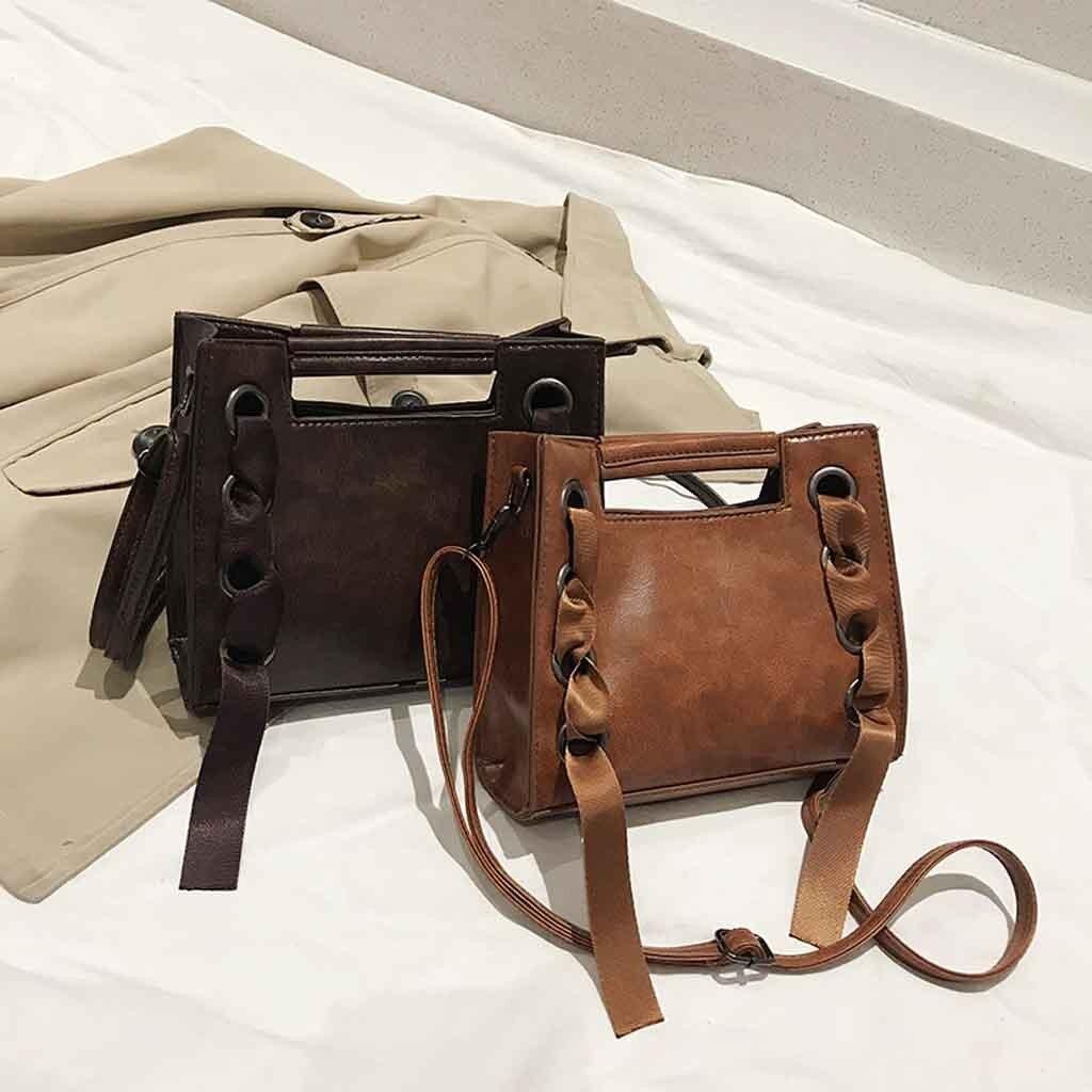 Retro Women's Handbag Ribbon Crossbody Bags For Women Wlid Leather Wallet Purses Ladies Hand Bags Mo