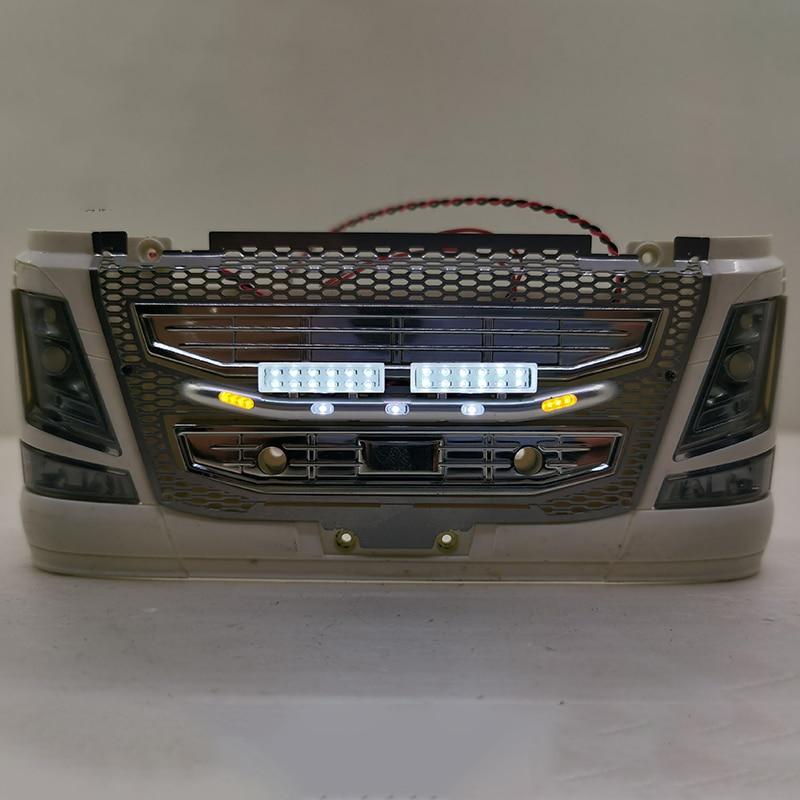 كشافات معدنية Led ل 1/14 تاميا مركبة يتم التحكم بها عن بُعد سيارة سكانيا R730 R470 R620 فولفو FH12 FH16 مجددة لتقوم بها بنفسك
