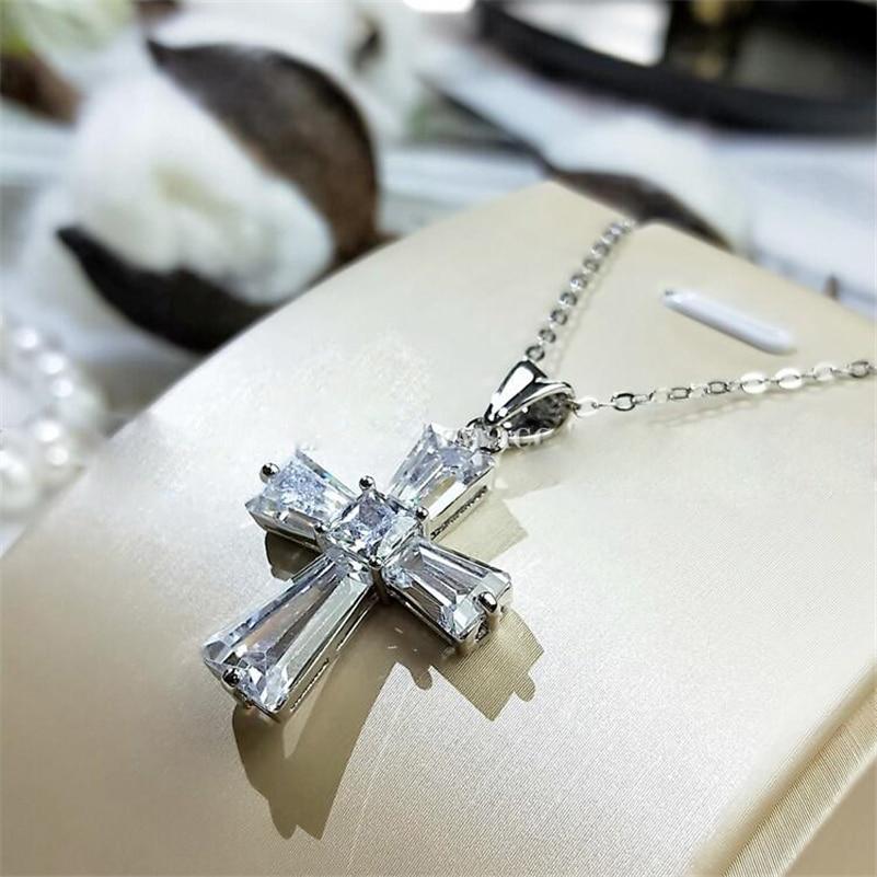 Женское-Ожерелье-с-кулоном-из-серебра-925-пробы-с-крестом-из-циркония-3-А