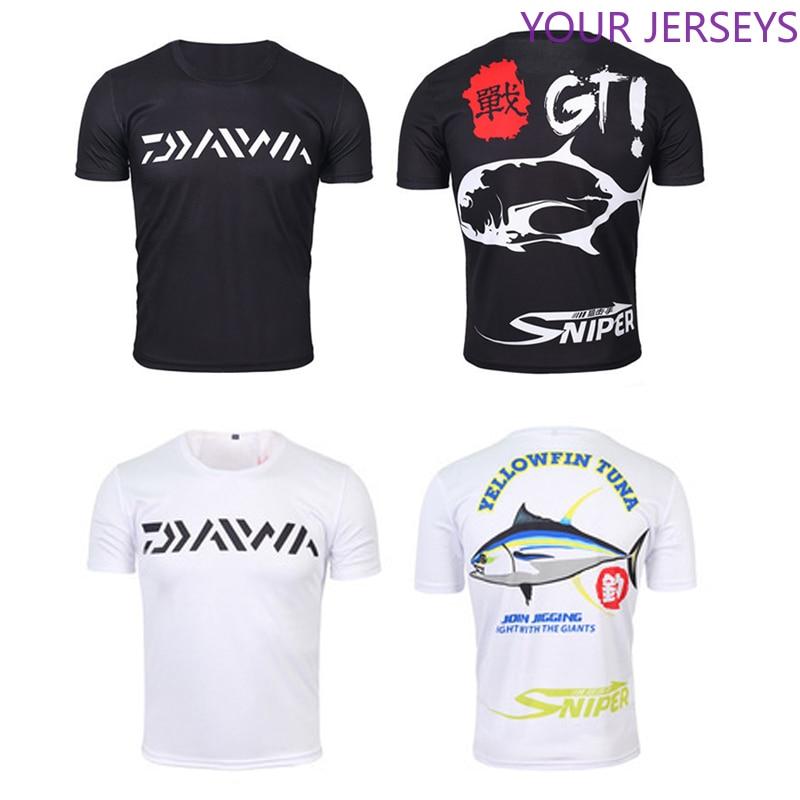 ¡Envío directo! 1 ud. De camiseta de pesca Daiwa XS-5XL de verano de manga corta para hombre, camiseta de pesca con mangas de brazo transpirables, ropa de pesca