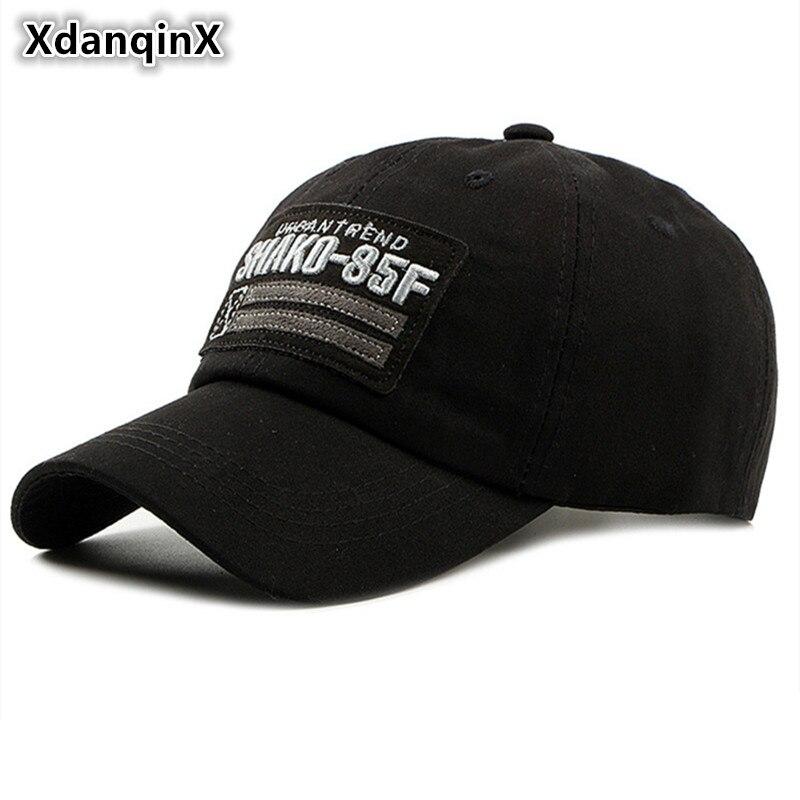 Xdanqinx 2019 nova primavera denim bonés de beisebol para homens moda bordado carta boné tamanho ajustável marca masculina chapéu snapback