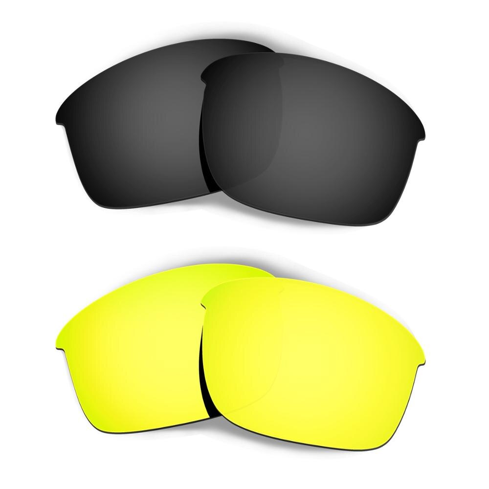HKUCO ل زجاجة الصواريخ النظارات الشمسية استبدال العدسات المستقطبة 2 أزواج-الأسود و الذهب