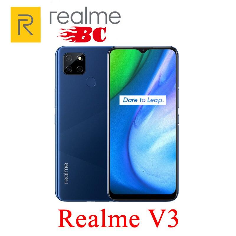 Перейти на Алиэкспресс и купить Новый оригинальный Realme V3 5G 8 Гб RAM 128 ГБ ROM 5000 мАч, Android 10,0, 6,5 дюйм1600x720,13.0MP, 18 Вт Зарядное устройство, мобильный телефон Быстрая доставка