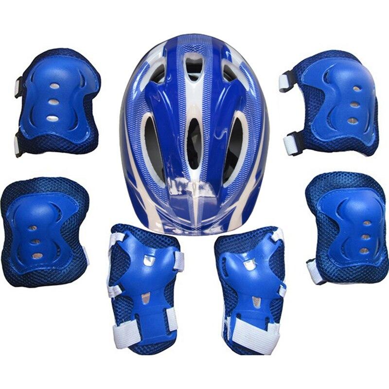7 Uds chico Niño De patinaje Casco De Bicicleta De rodilla, muñeca guardia almohadilla para el codo De Casco De Bicicleta Capacete De Bicicleta Ciclismo Casco De Se