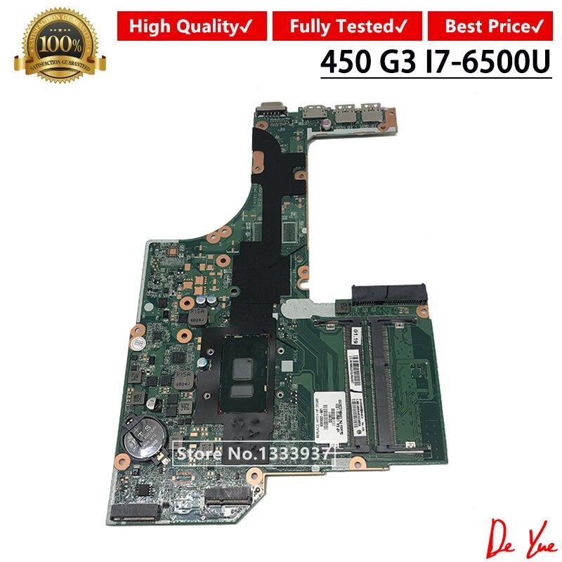 DA0X63MB6H1 X63 Mainboard 830932-830932-501 SR2EZ 001 I7-6500U para HP PROBOOK 450 G3 470 G3 Laptop motherboard