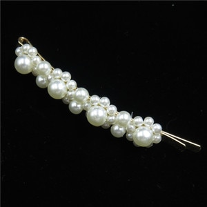 12PCS/LO Simple Women Girls Elegant Pearls Flower Hair Clips Sweet Headwear Hair Scrunchy BB Hairpins Barrettes Hair Accessories