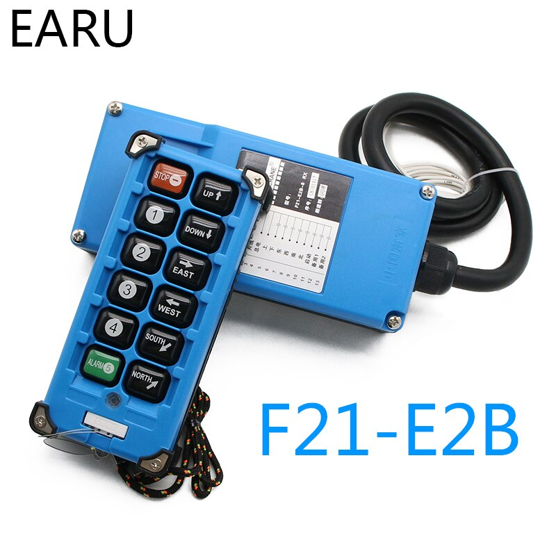 F21-E2B-8 الصناعية مفاتيح تحكم عن بعد 6 قنوات مفاتيح الاتجاه زر رافعة كرين شاحنة راديو نظام التحكم عن بعد