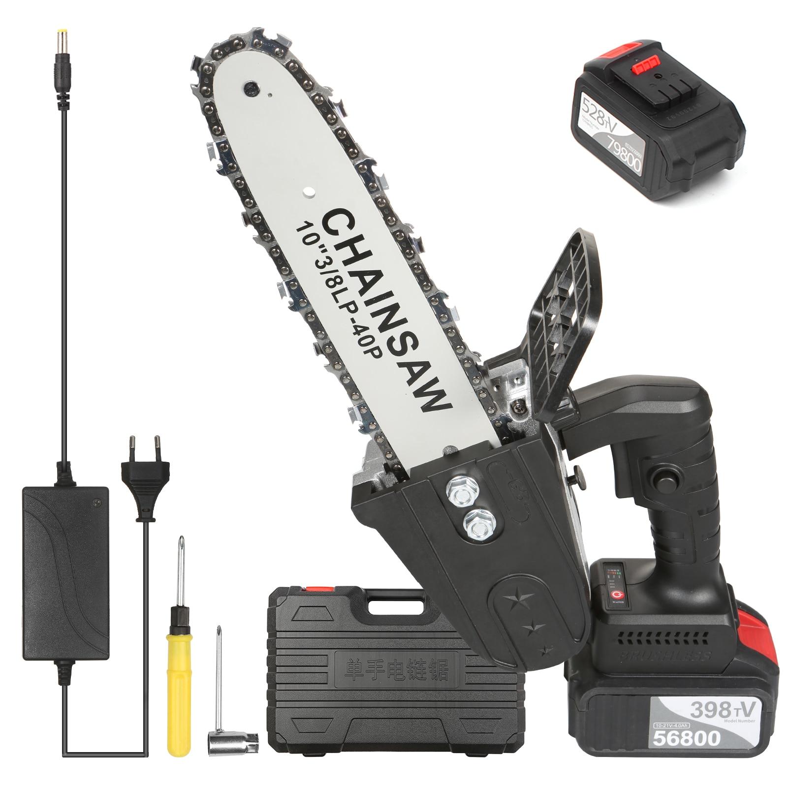 منشار كهربائي بسلسلة 21 فولت ، منشار تقليم لاسلكي ، أدوات كهربائية لقطع الأخشاب