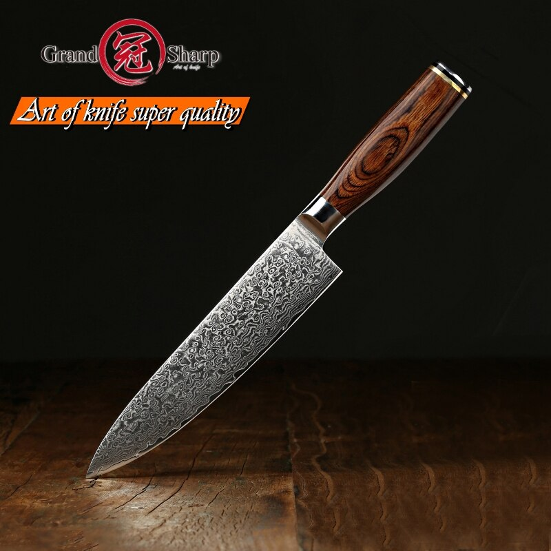 7.7''  Professional chef knives VG10 Steel Blade Damascus chef knife Japanese Damascus Kitchen Knives with Gift Box Grandsharp