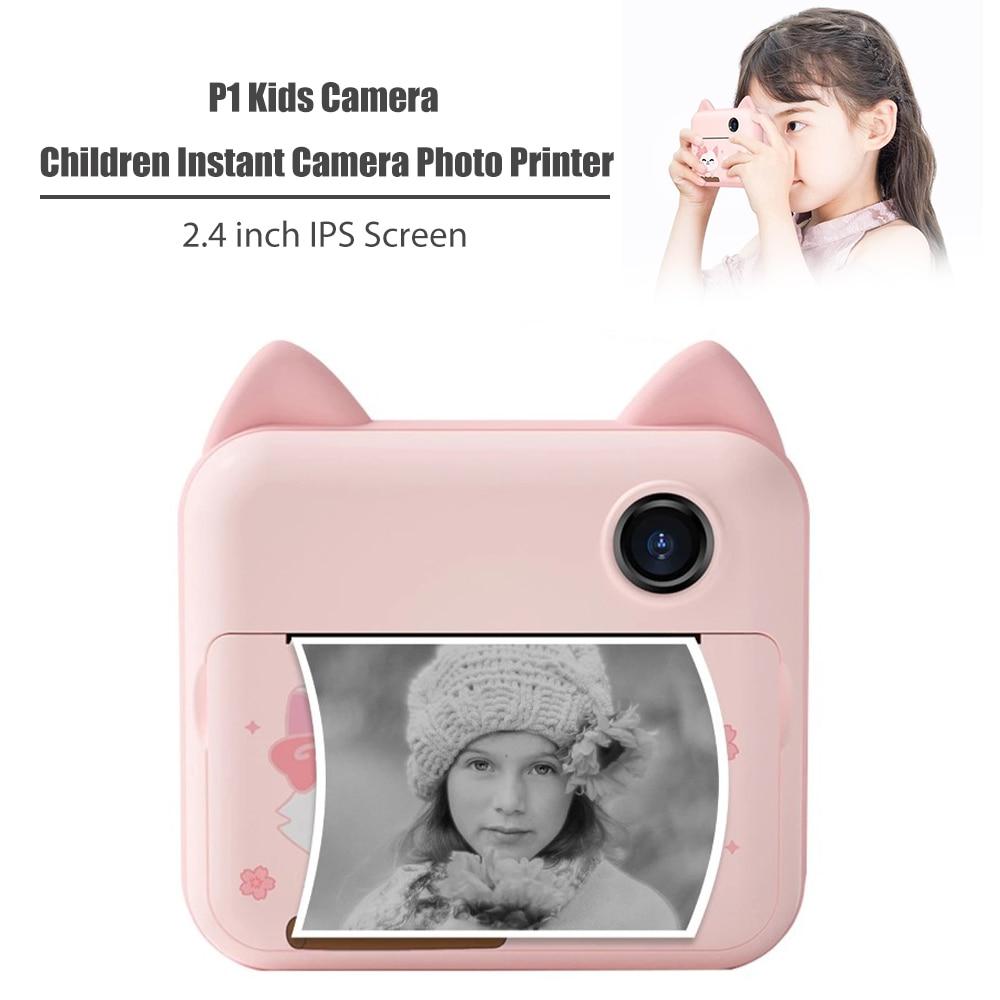 كاميرا 1200 وات كاميرا كاميرا فورية مع ورق طباعة 2.4 بوصة IPS شاشة بنات طابعة صور لهدايا عيد الميلاد