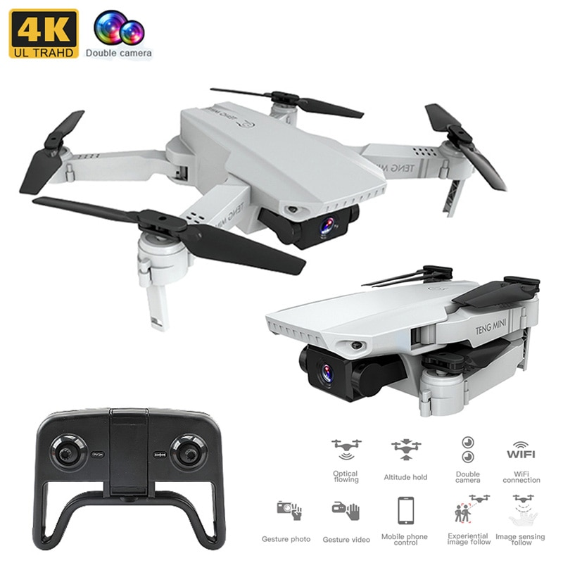 KF609 4K HD Cámara RC Mini Drone plegable con WIFI FPV Selfie flujo óptico estable altura Fly Quadcopter RC helicóptero de juguete