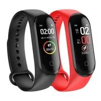 m4 pedometer heart rate wristband sports pedometer bracelet smart watch wristband blood pressure fitness tracker m4 band tslm1