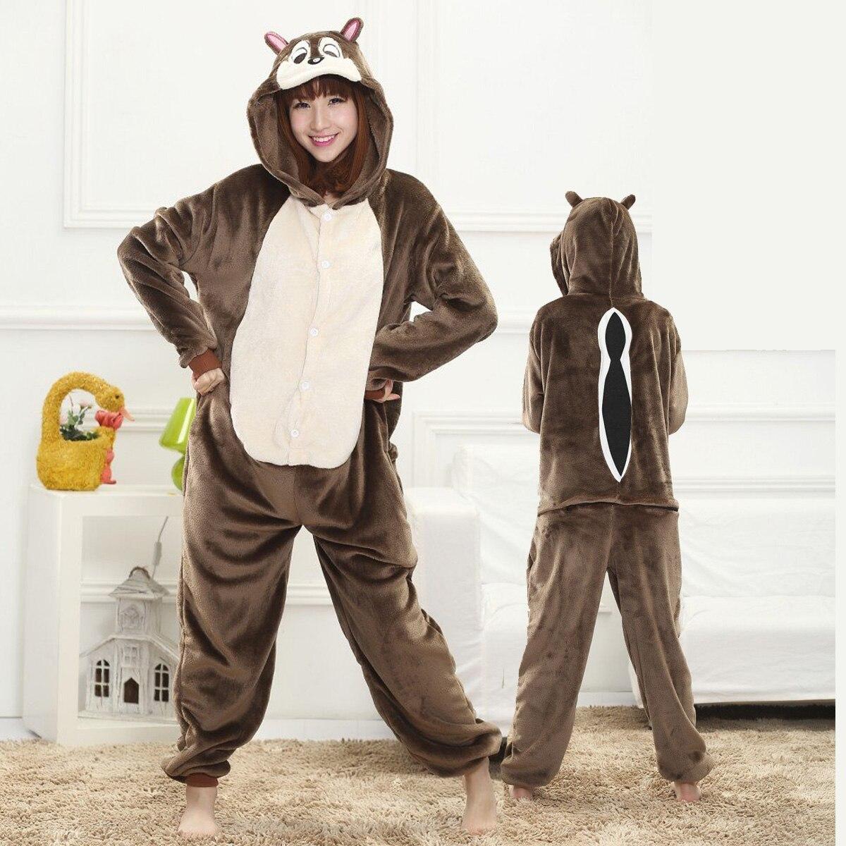 Взрослые пижамы-Кигуруми для женщин и мужчин в виде животных