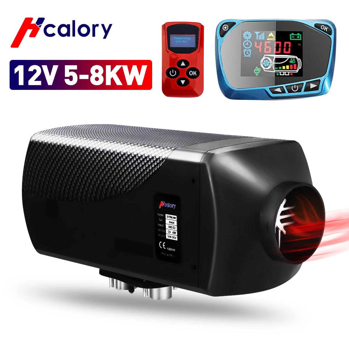 HCalory الهواء مدفأة الديزل 5-8KW 12 فولت سخان سيارة كبيرة التبديل سخان التوقف مجهزة جهاز التحكم عن بعد ل شاحنة رافعة شوكية حافلة