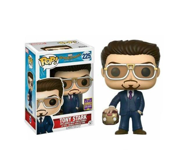 FUNKO POP Marvel Spider Man Iron Man Tony Stark colección modelo de película juguetes vinilo 2020 figuras de acción niños juguetes para niños