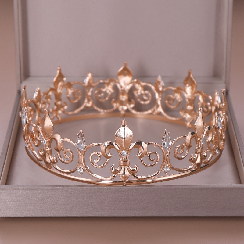 Bridal Headdress Full Circle Big Crown Alloy Crystal Crown Wedding Jewelry Girls Hair Bands Party Accessories Birthday Gifts