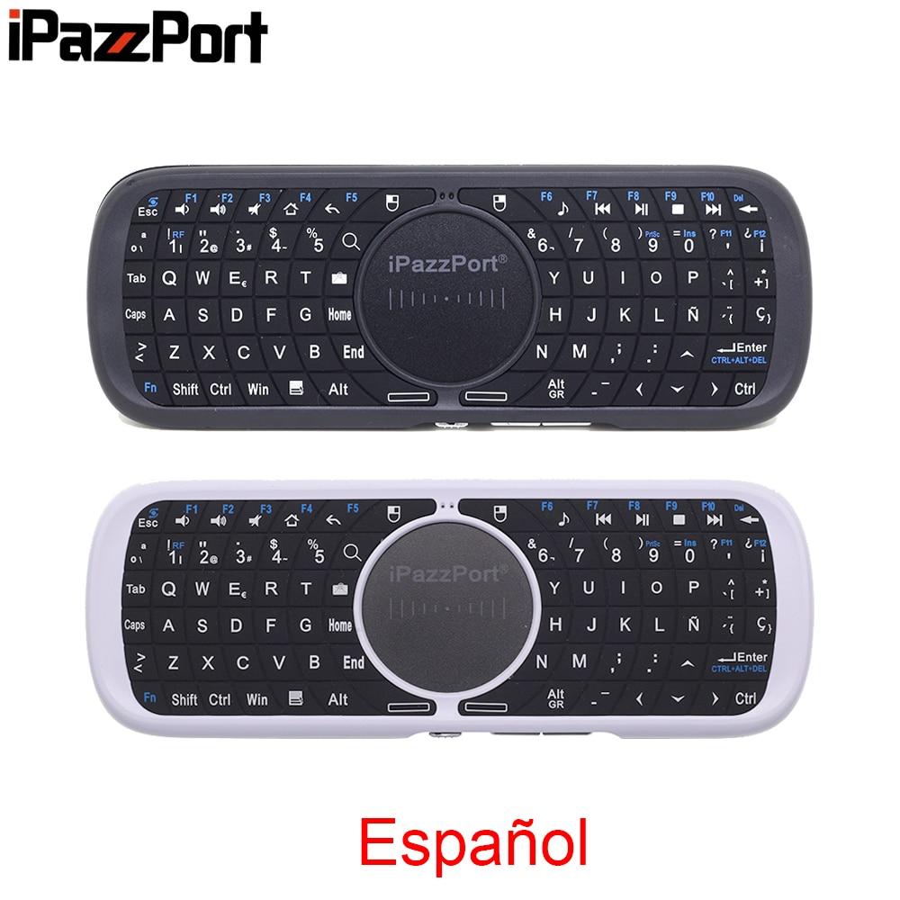 Ipazzport KP-810-09 espanhol espanol 2.4g mini teclado sem fio com touchpad mouse para mi caixa de tv android conjunto caixa superior