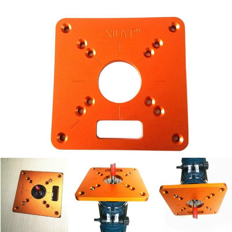 Universal RT0700C enrutador de aluminio Placa de inserción de mesa máquina de recorte Flip Board para carpintería bancos Router Placa de mesa