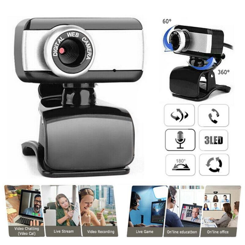 Cámara Web 480P HD Webcam USB 2,0 con micrófono incorporado con cancelación...