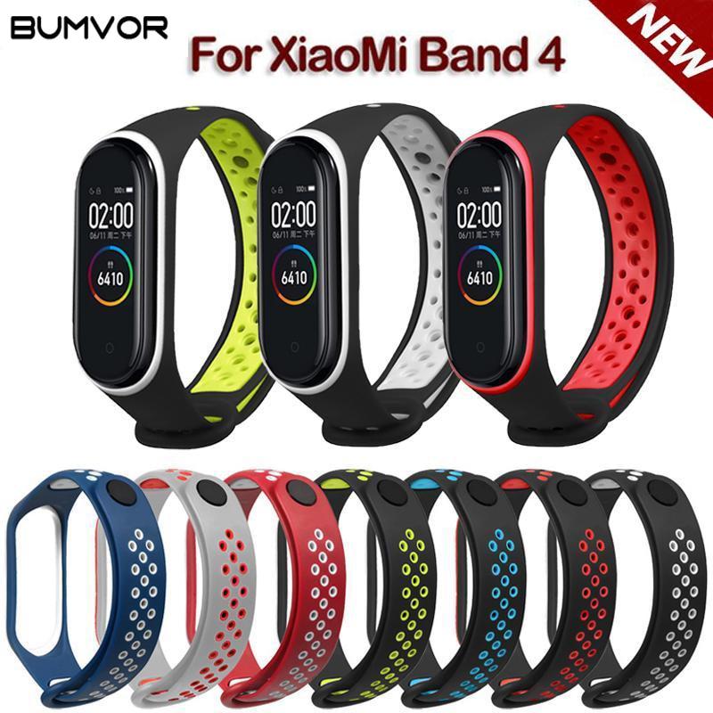 Para Mi Band 3 4 Correa deporte silicona reloj pulsera Correa accesorios Mi band3 pulsera inteligente para Xiaomi mi band 3 4 Correa