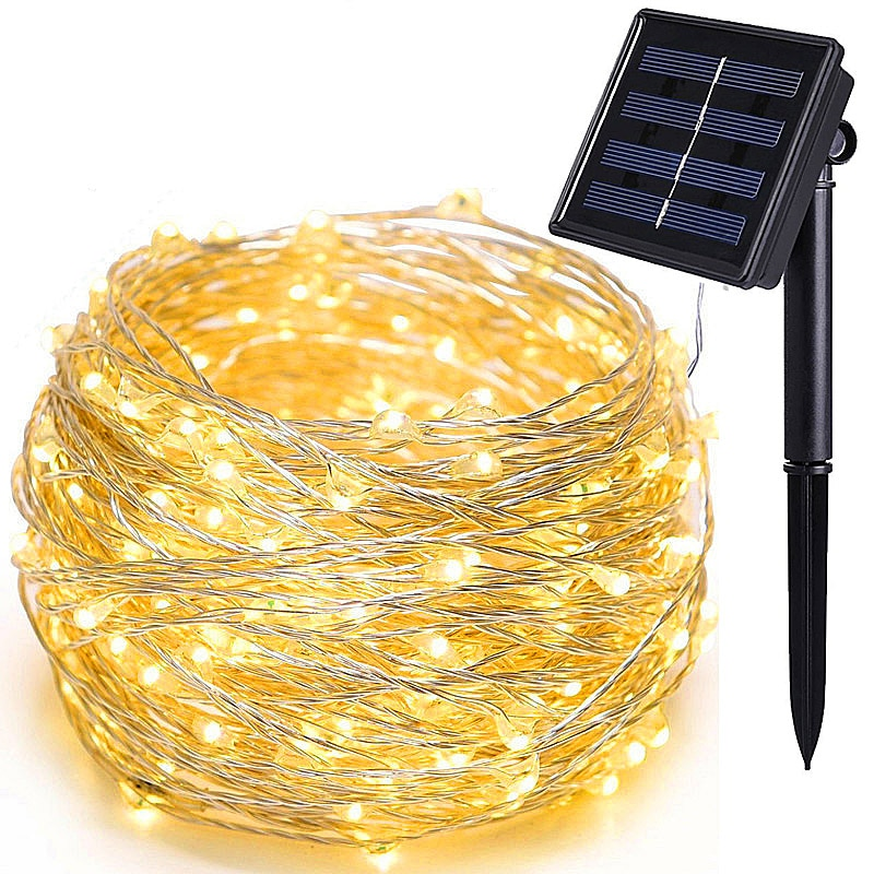 1m 10m usb led lights string outdoor copper wire led fairy light garland holiday chirstmas string light wedding party decorative 20M solar LED String Light Waterproof LED Copper Wire String Holiday Outdoor Fairy Lights For Christmas Party Wedding Decoration