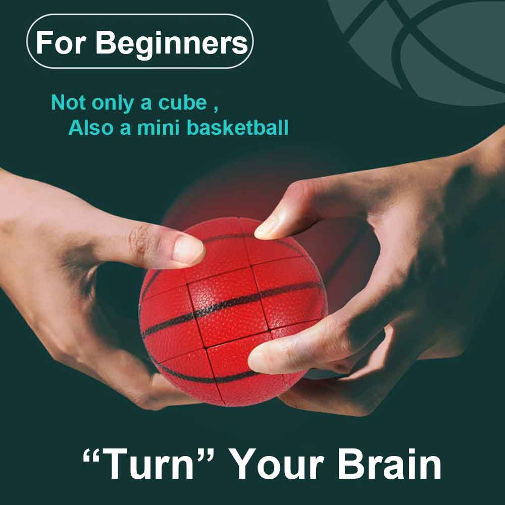 New Basketball Magic Ball Cube antistress fidget toys 3x3x3 Stickerless cubo magico Puzzle Educational brain teaser for Children enlarge