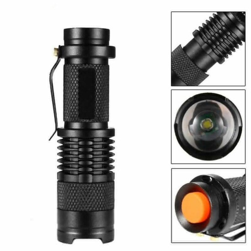 Linterna frontal LED, lámpara impermeable para bicicleta con soporte de luz giratorio de 360 grados, foco ajustable recargable, linterna con ZOOM