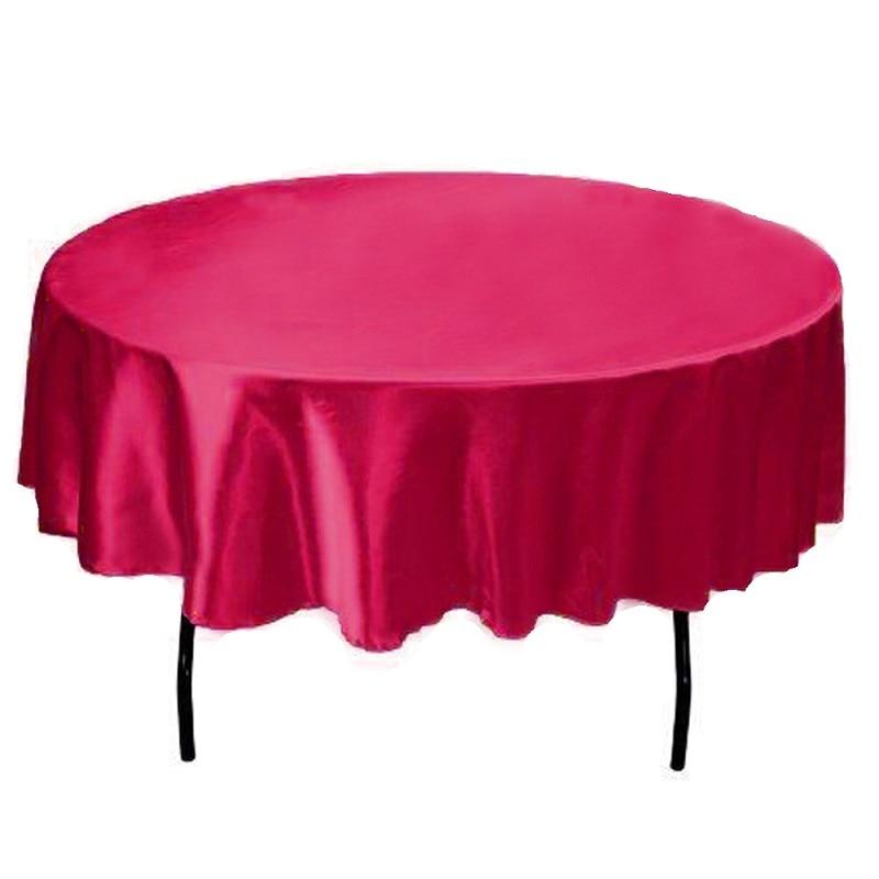 145 см x 145 см гостиничная скатерть однотонная круглая атласная Скатерть для рождества Свадебная вечеринка в отеле Ресторан Банкетный Декор 21 цвет
